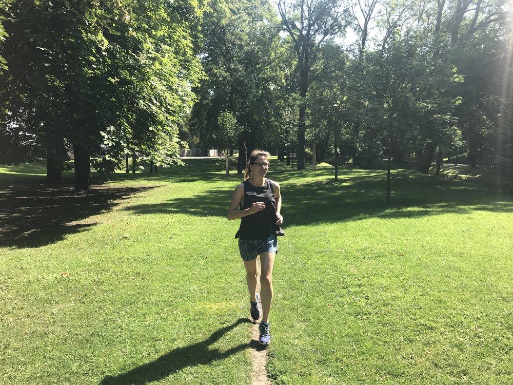 Langer Lauf im Olympiapark