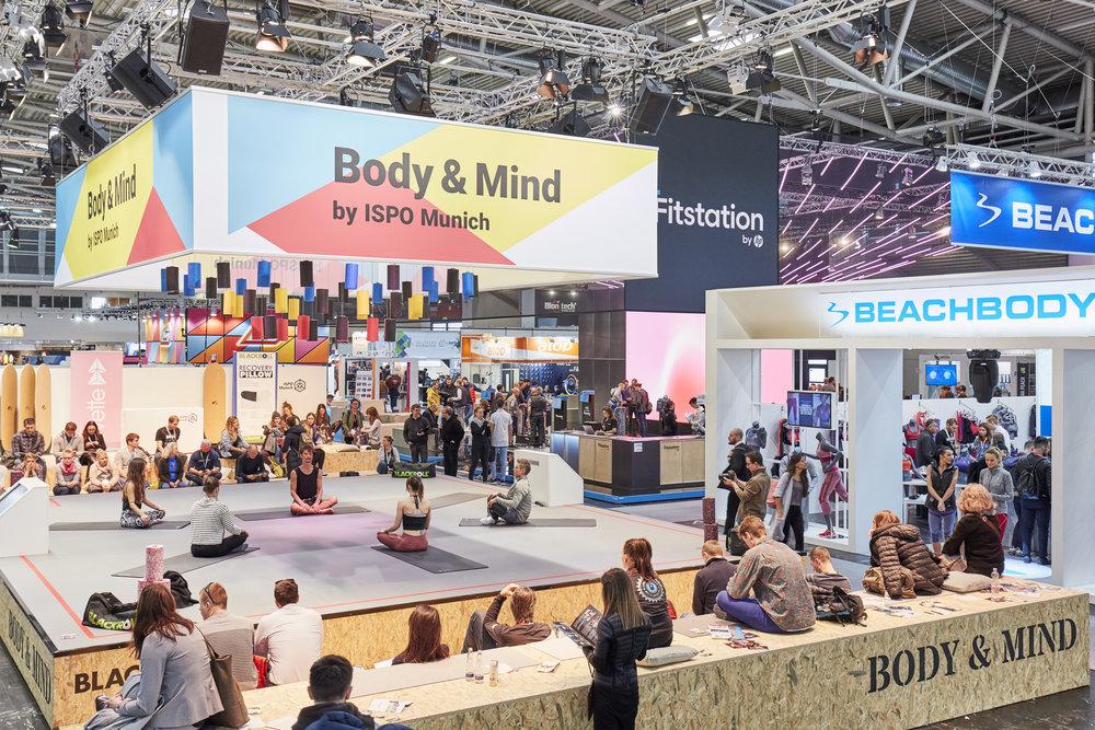 Die Body & Mind Stage auf der ISPO 2019 (c) Messe München