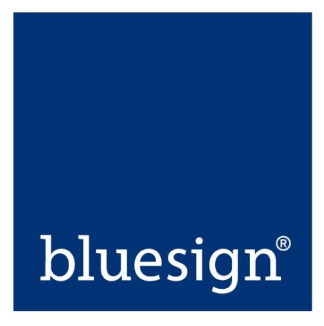 So sieht das bluesign (R) Label aus.