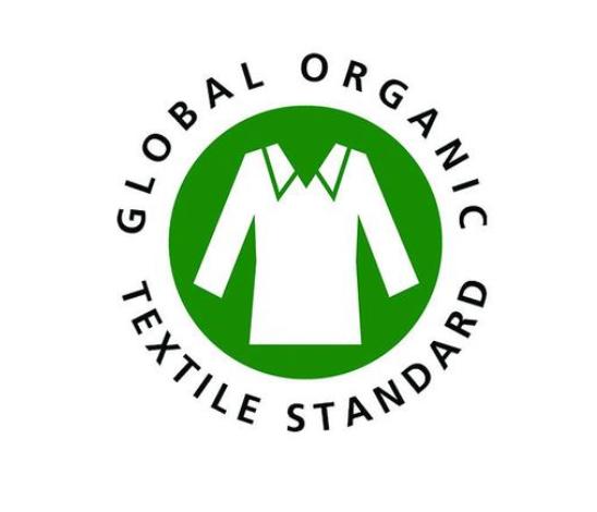 So sieht das Global Organic Textile Standard Logo aus.