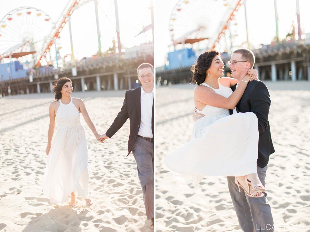 Santa Monica Pier Engagement Session
