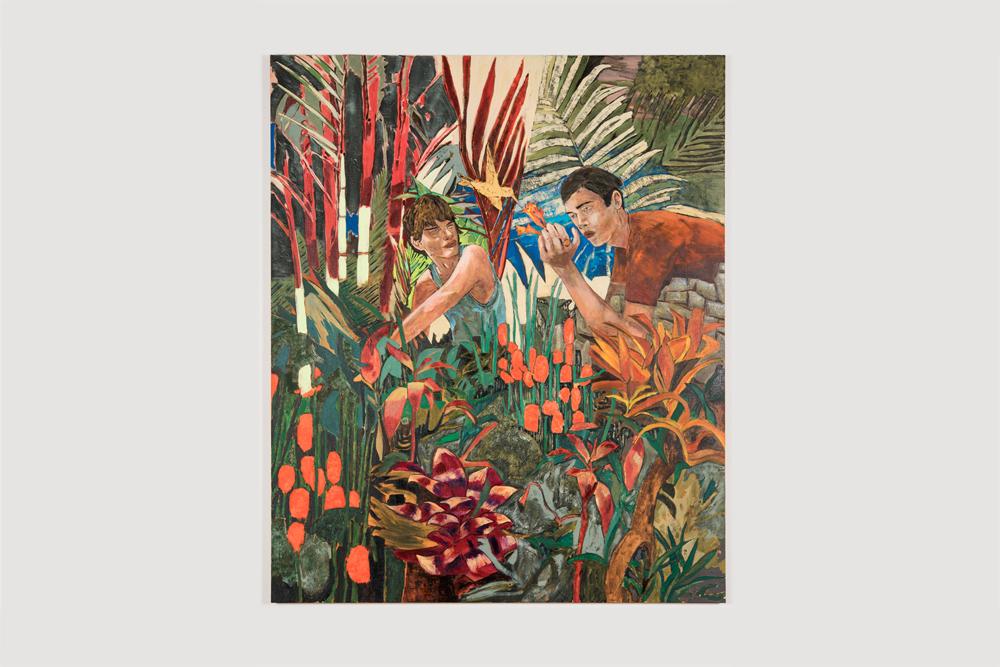 Hernan Bas  the hummingbird feeders  2016 Acrylic and enamel on linen 72 x 60 inches