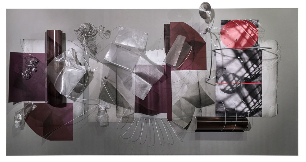 María Martínez- Cañas Untitled 016,  2016 Mixed Media on Archival Arches Aquarelle Rag Paper 44 x 88 inches