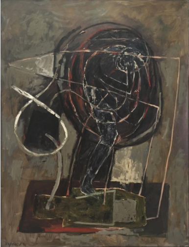 Carlos Alfonzo  (1950-1991)  Told , 1990. Oil on linen. 96 1/8 × 72 1/8 in. Whitney Museum of American Art, New York; Gift of Mrs. Sena Artigas in memory of Carlos M. Artigas