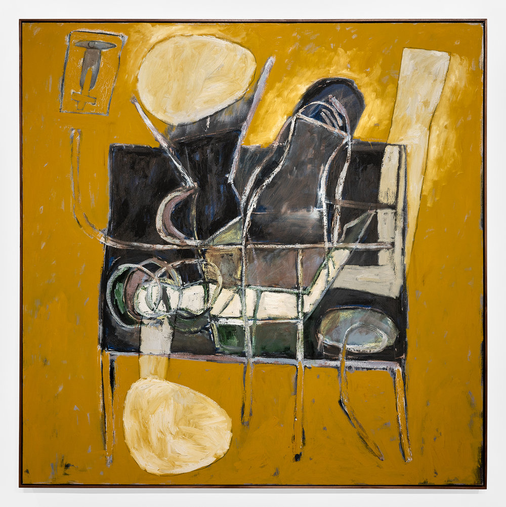 "Carlos Alfonzo,  Still Life with AIDS Victim , 1990, oil on canvas, 84"" x 84"" inches"