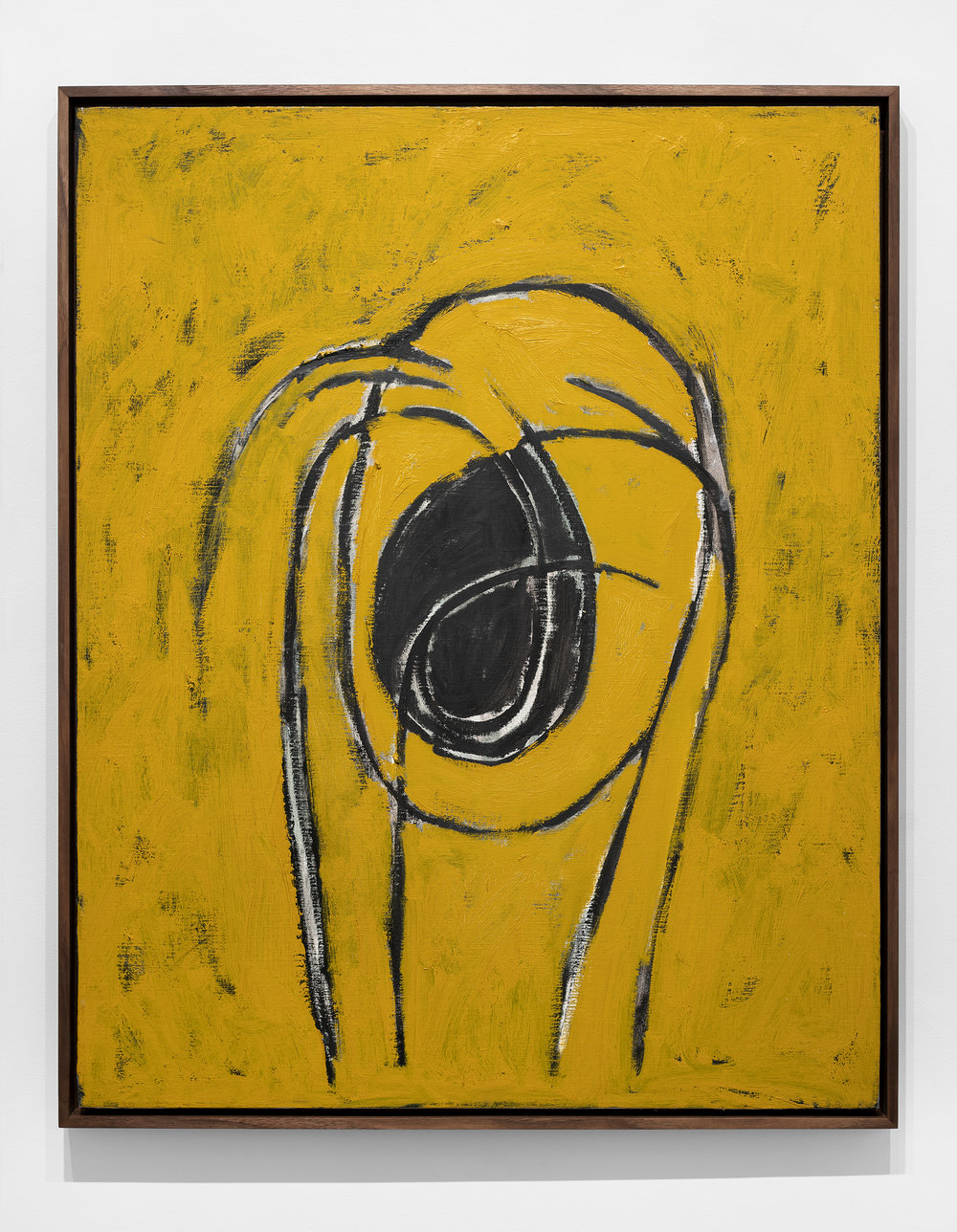 "Carlos Alfonzo, ""Screaming Head"" (1990), oil on canvas, 39×32″"