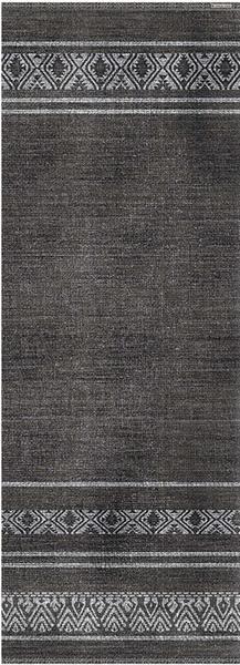 """Beija Flor Inca Black Runner Floor Mat: 36"""" x99"""""""
