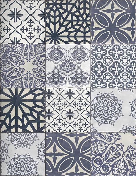 """Beija Flor Eclectic Blue Floor Mat Small: 24""""x 32"""""""