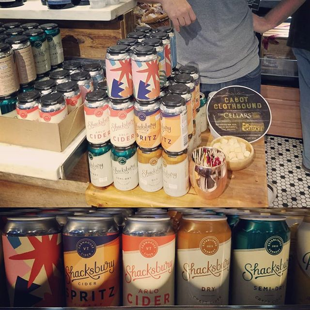 Vermont's finest cider @shacksbury is here @dibrunobottleshop until 6p today! Pairs beautifully with Vermont's Cabot Clothbound Cheddar! #ciderandcheese #ciderfortheholidays #vermont #aciderforalltastes #dibrunos