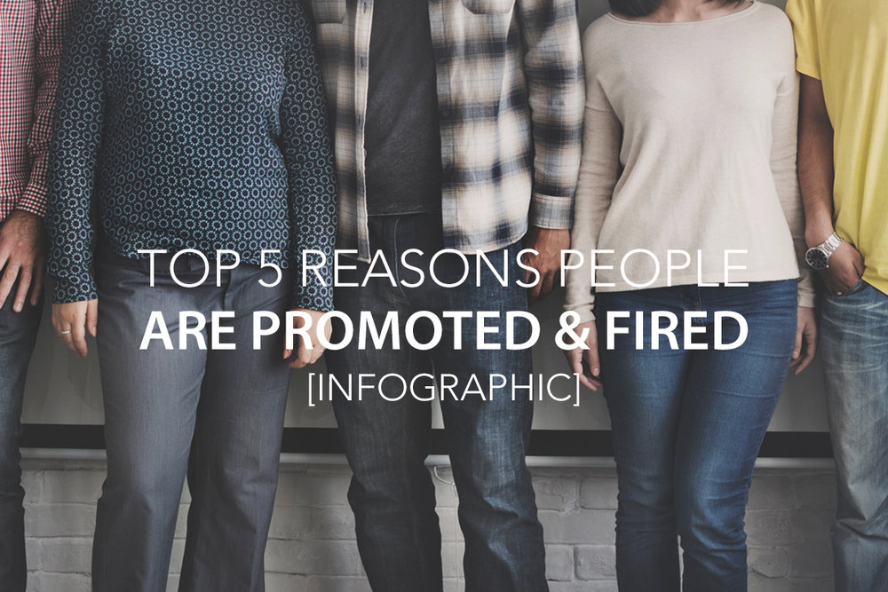 Top 5 Reasons People Are Promoted & Fired [Infographic] - The Center Consulting and Leadership Coaching for Businesses, Non-profits, and Churches