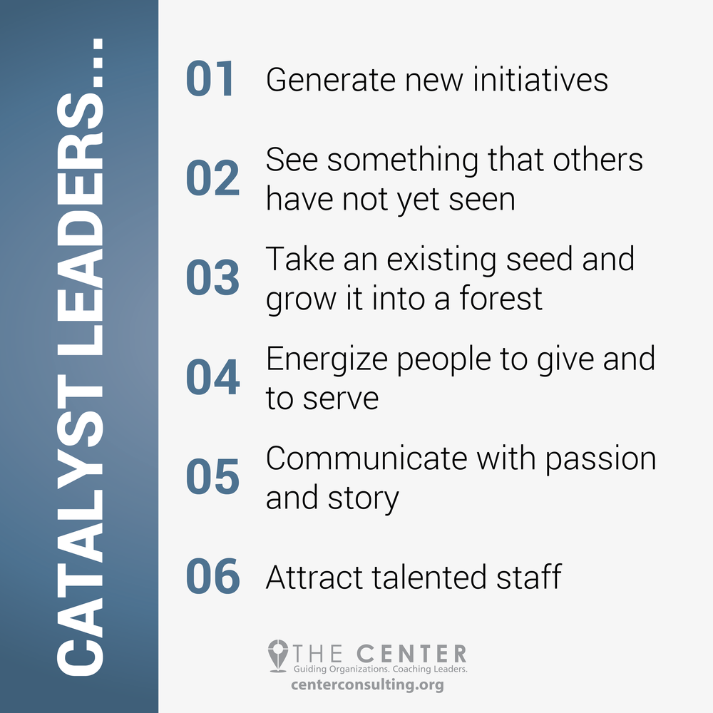 6 Characteristics of a Catalyst Leader- The Center Consulting Group - Leadership Coaching and Consulting