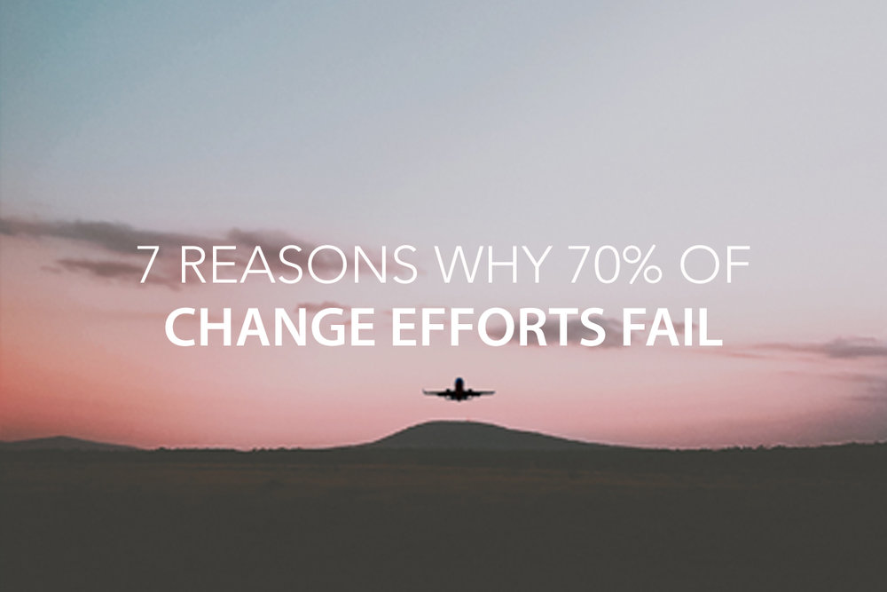 7 Reasons Why 70% of Change Efforts Fail – And What Leaders Can Do About It  - The Center Consulting Group - Leadership Coaching and Consulting for Businesses, Churches, and Non-Profits