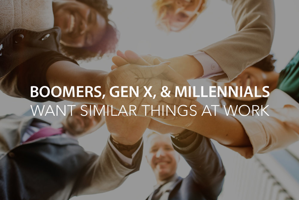 Boomers, Gen X, and Millennials Want Similar Things When It Comes to Work - The Center Consulting Group - Leadership Coaching and Consulting for Businesses, Churches, and Nonprofits