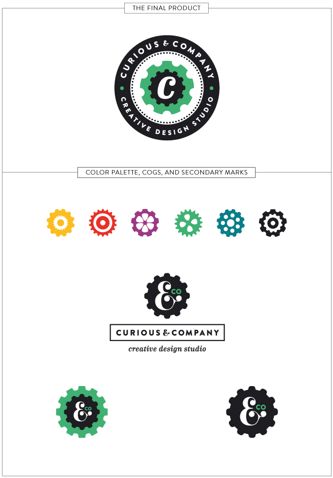 Curious & Co. rebrand design