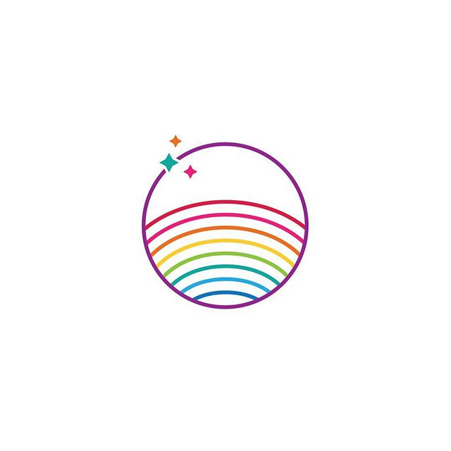 🏳️‍🌈 This colorful little mark was part of our explorations celebrating Pride. It ultimately went unused, but it has some fun elements we really like, including a slightly different take on traditional rainbow colors. ✨ #designedbycuriousandco #cuttingroomfloor #creativeexploration #pride #colorful #logodesign #graphicdesign #creativebiz #creativewomen #womeninbusiness