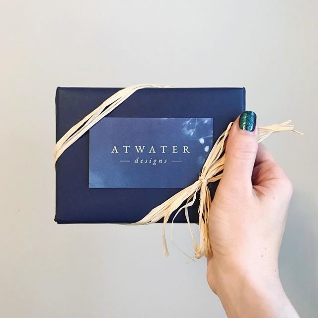 It's always a joy to see how our clients use what we've created for them. Sarah from @atwaterdesigns is using her business cards as an element in her gift packaging for the holidays. 🎁  We created three variations of her card using images of her own cyanotypes, so each gives a glimpse into her beautiful work and serves as a little piece of art all on its own. 🎨  It's also a joy to be able to support other women small business owners, year round! We can't wait to put this little masterpiece under the tree... 🎄 #designedbycuriousandco #atwaterdesigns #logodesign #branddesign #smallbusinessowner #logo #branding #graphicdesigner #supportsmallbusiness #designingwomen #womenowned #womanownedbusiness #smallbusiness #cyanotype #moocards