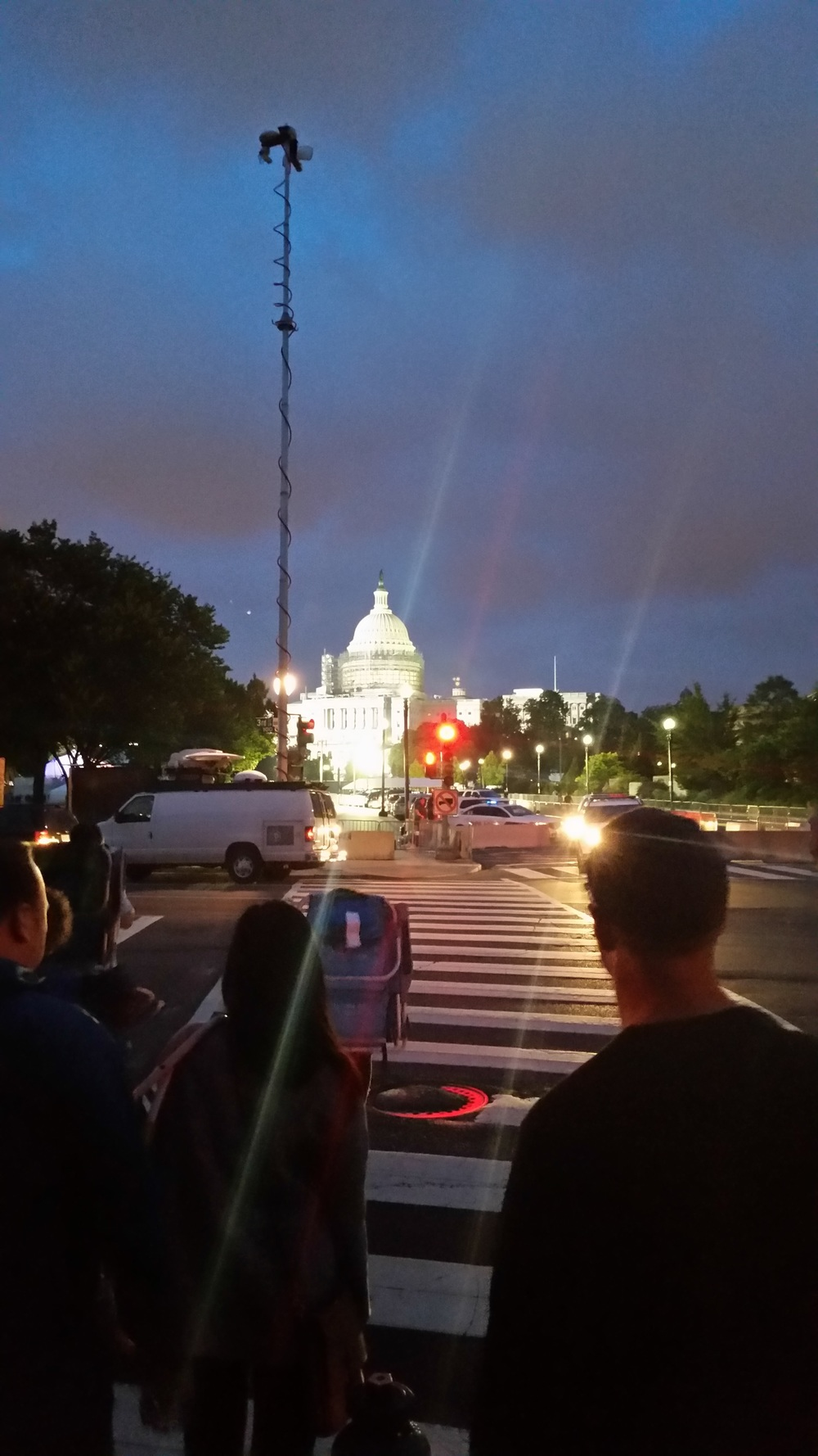 The capitol that night