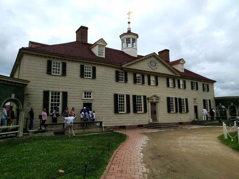 The actual house at Mount Vernon