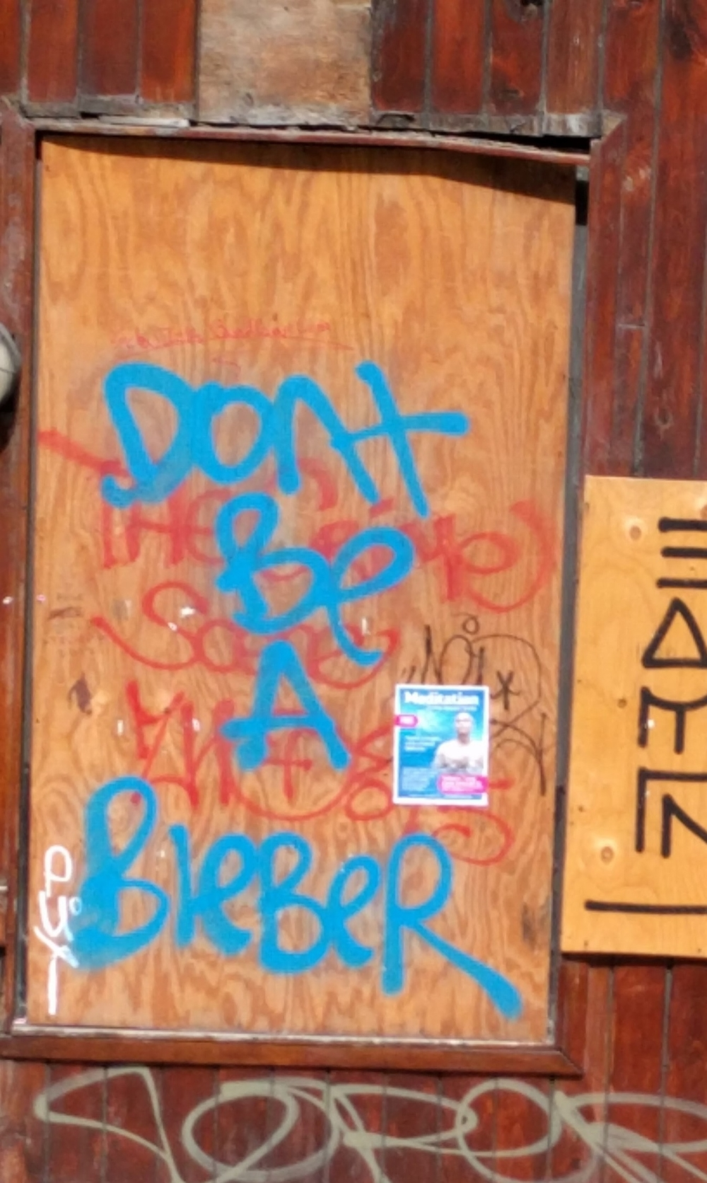 Just some hilarious graffiti we saw during the tour