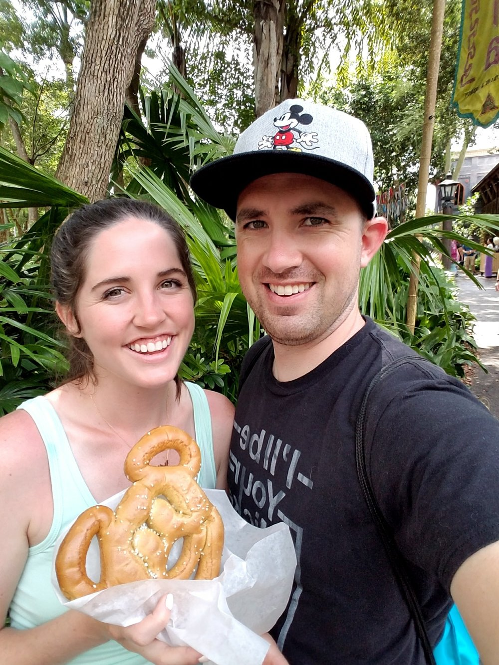 Mickey soft pretzels are honestly so much better than any other soft pretzel. They can be found at most pretzel carts in every park!