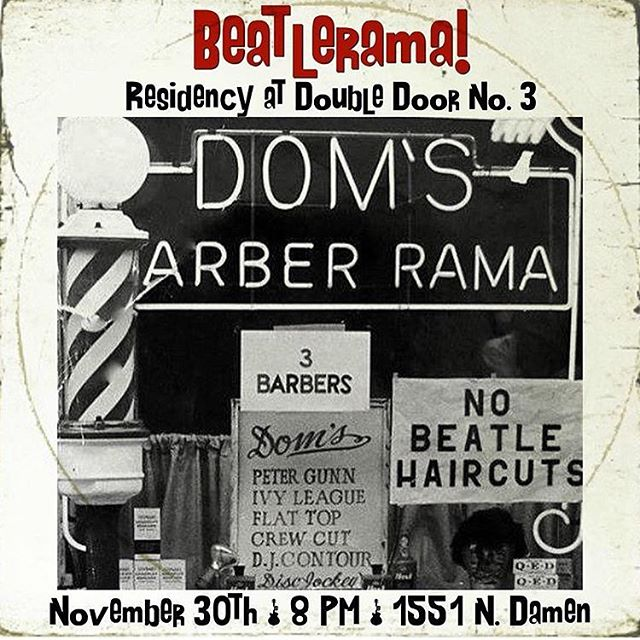 First show of our residency at @doubledoor door no. 3 is this Wednesday night at 8! Only $5 #chicagoscavern #beatlerama #doubledoor #chicago #wickerpark