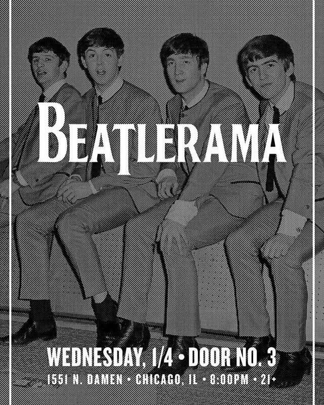 Ring in the new year with Beatlerama at @doubledoor no. 3 Wednesday, January 4th! #beatlerama #beatlestribute #doubledoor #chicago #residency