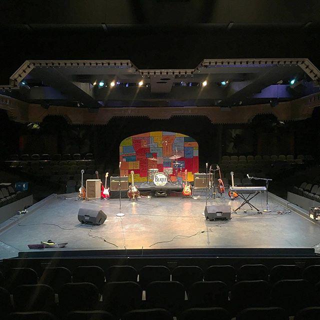 Calm before the storm! #guitargiveaway #beatlerama #marriotttheater #chicago #lincolnshire #beatlestribute