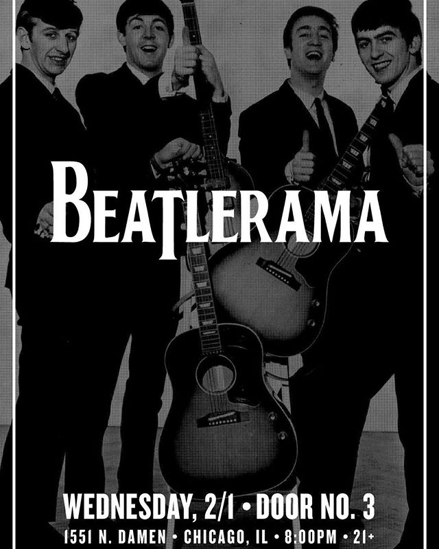 Next appearance is February 1st at @doubledoor no. 3 #beatlerama #beatles