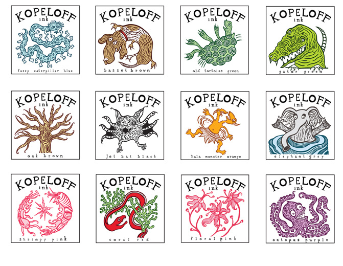 Kopeloff Colored Inks Logo