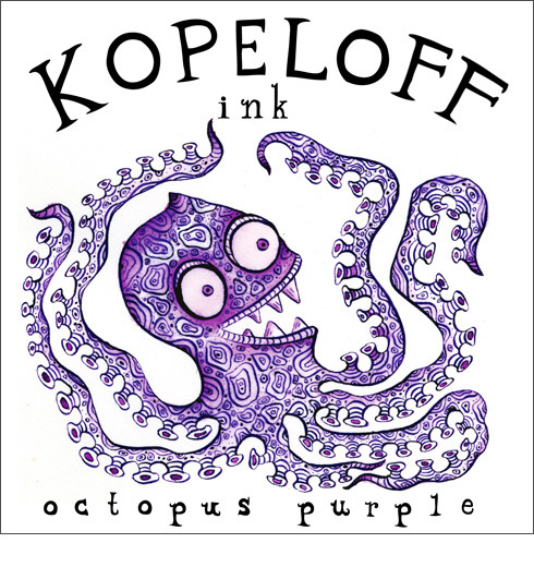 Octopus Purple Colored Ink Logo