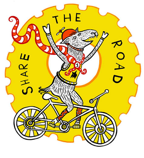 Share the Road with Bikes T-Shirt Logo