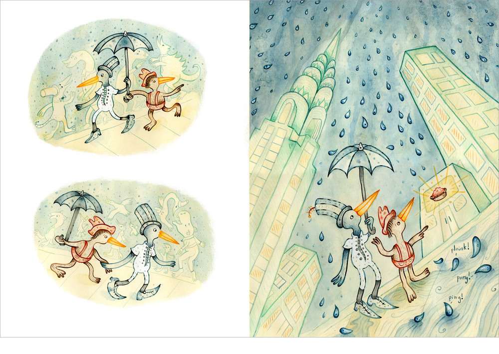 Ping Pong, It's Raining – Spread from a City and Country Story