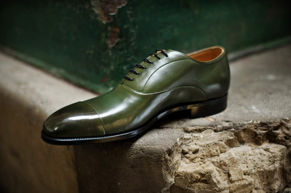 Lodger - English military green cap toe
