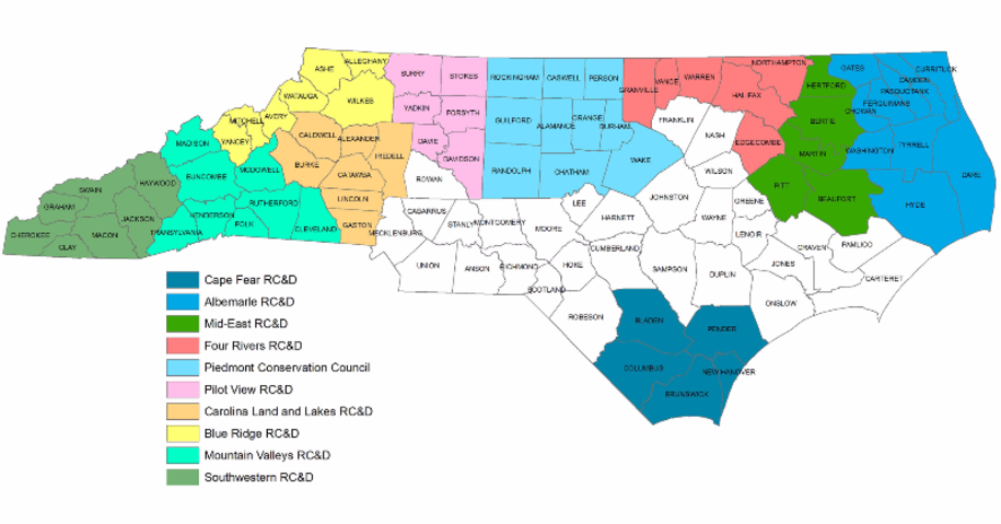 The Resource Conservation and Development Councils of North Carolina can assist farmers with understanding and navigating the NRCS-EQIP's On-Farm Energy Initiative.