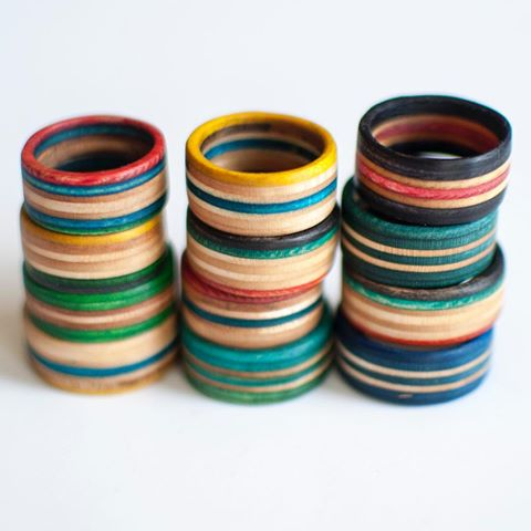 15 Pack Recycled Skateboard Rings — THE RECYCLED RING 9c00db111bb