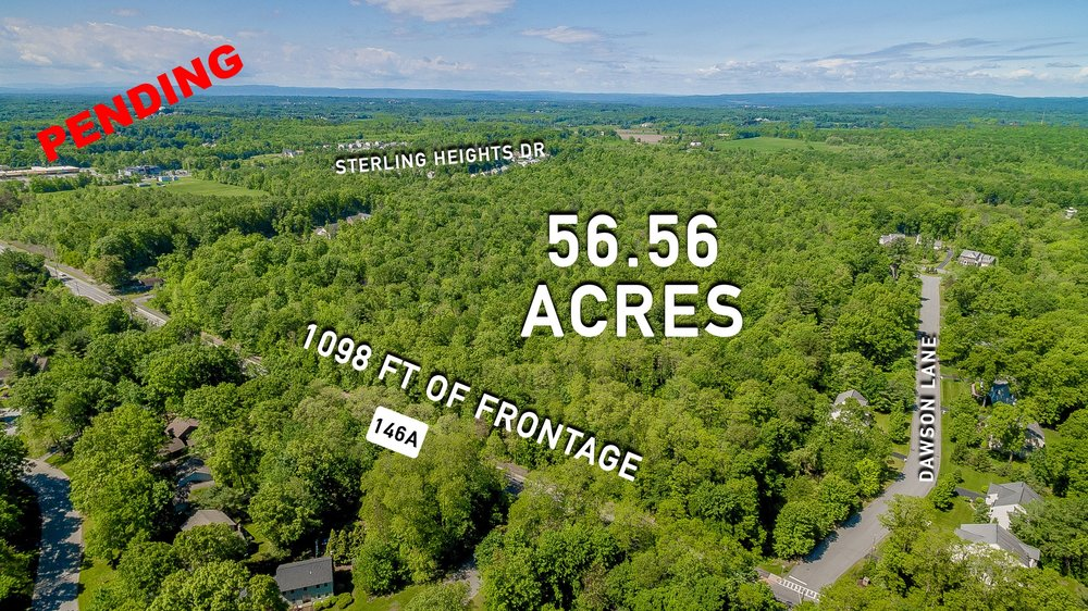 5/30/17               Listed for $1,200,000 Seller Representation  Rt 146A Clifton Park, NY 12065  56.56 Acres ? 1098 Feet of Frontage