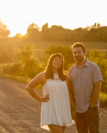 Rebecca and fiance Jamie Wolfe