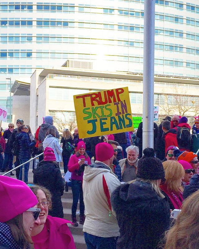 Yes, yes he does! #womensmarch #denver #colorado #proud #nastywoman