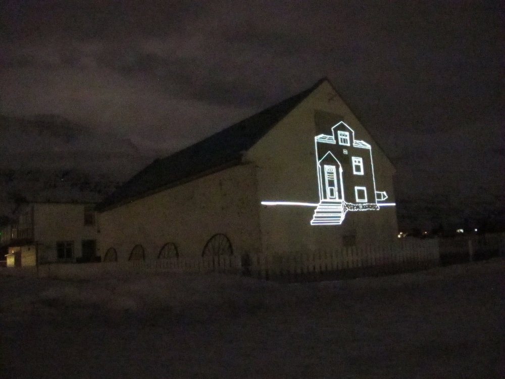 Outdoor Video Projection in Iceland, 2016