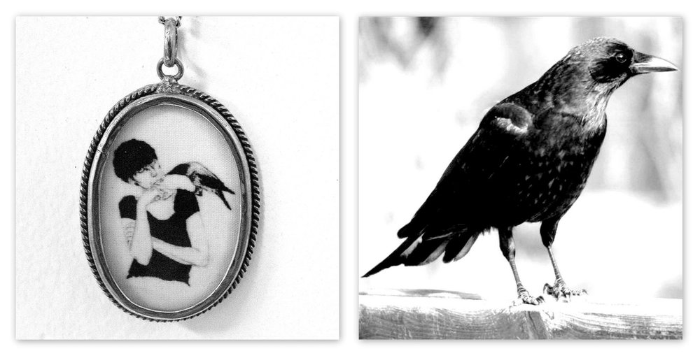 Illustrated cameo necklace