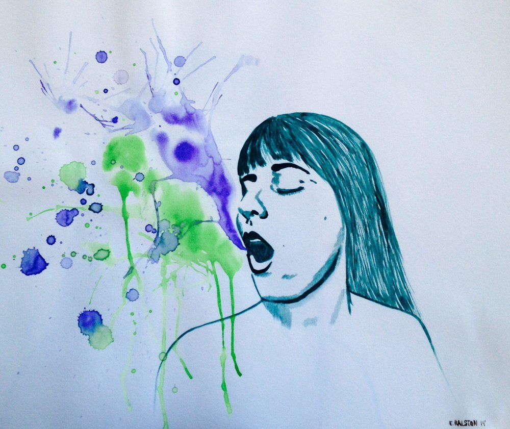 Selfie - Watercolour self portrait