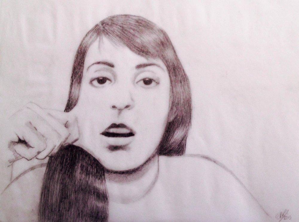 Self portrait on pecil