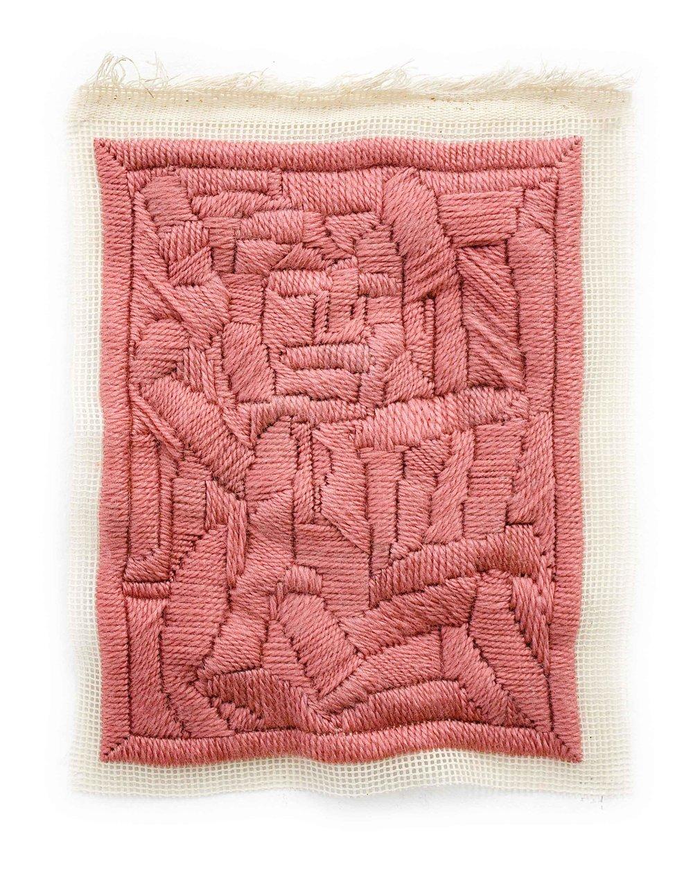 """Carlier"", 2016, wool tapestry, 25 x 20 cm"