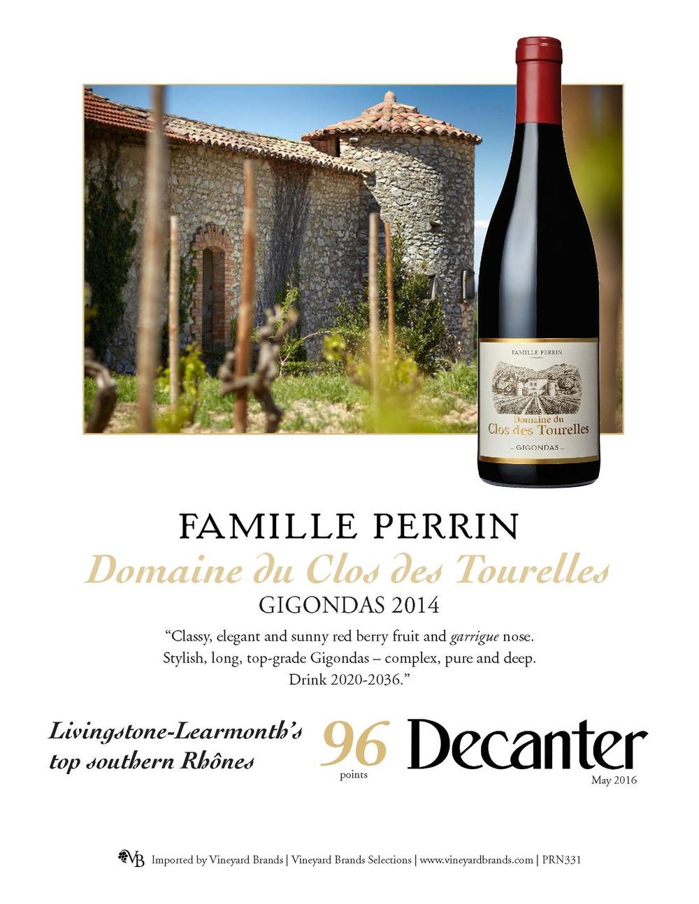 Famille Perrin Domaine du Clos des Tourelles Gigondas 2014