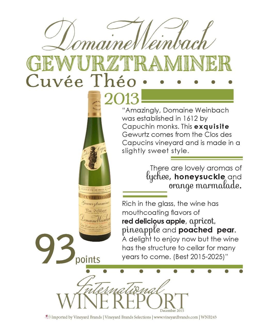 DomaineWeinbach Gewurtztraminer Cuvee Theo 2013