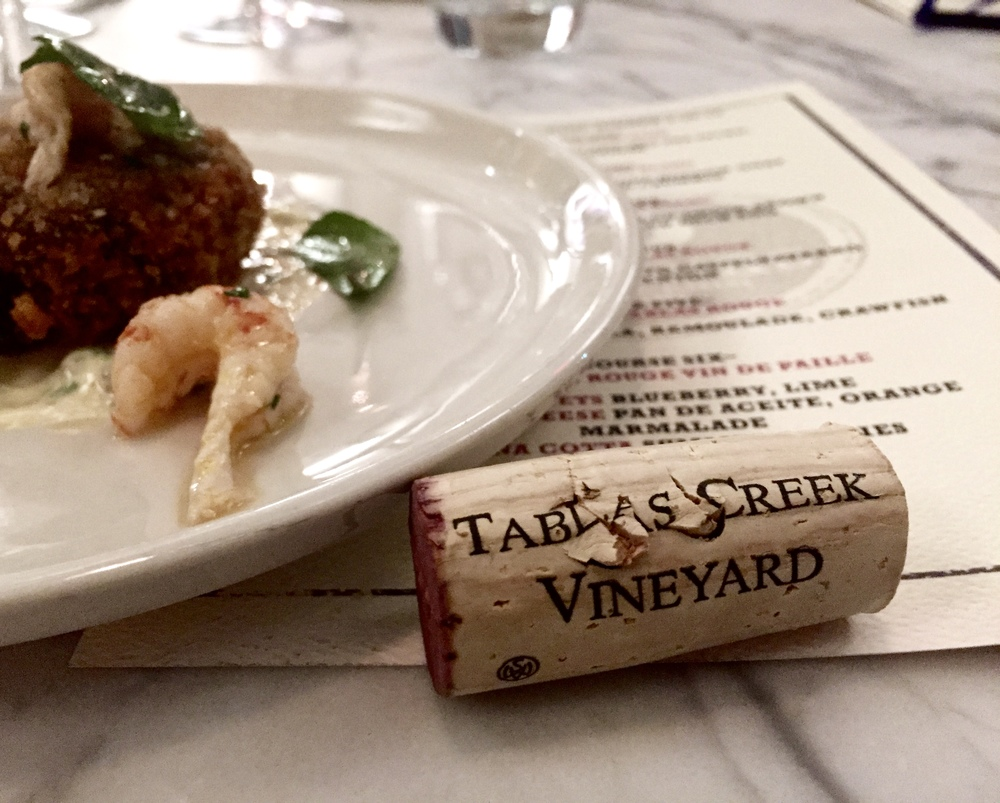 Tablas Creek Vineyard Wine Dinner OvenBird Birmingham Alabama