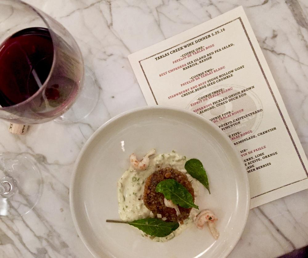 Tablas Creek Vineyard Wine Dinner OvenBird Birmingham Alabama