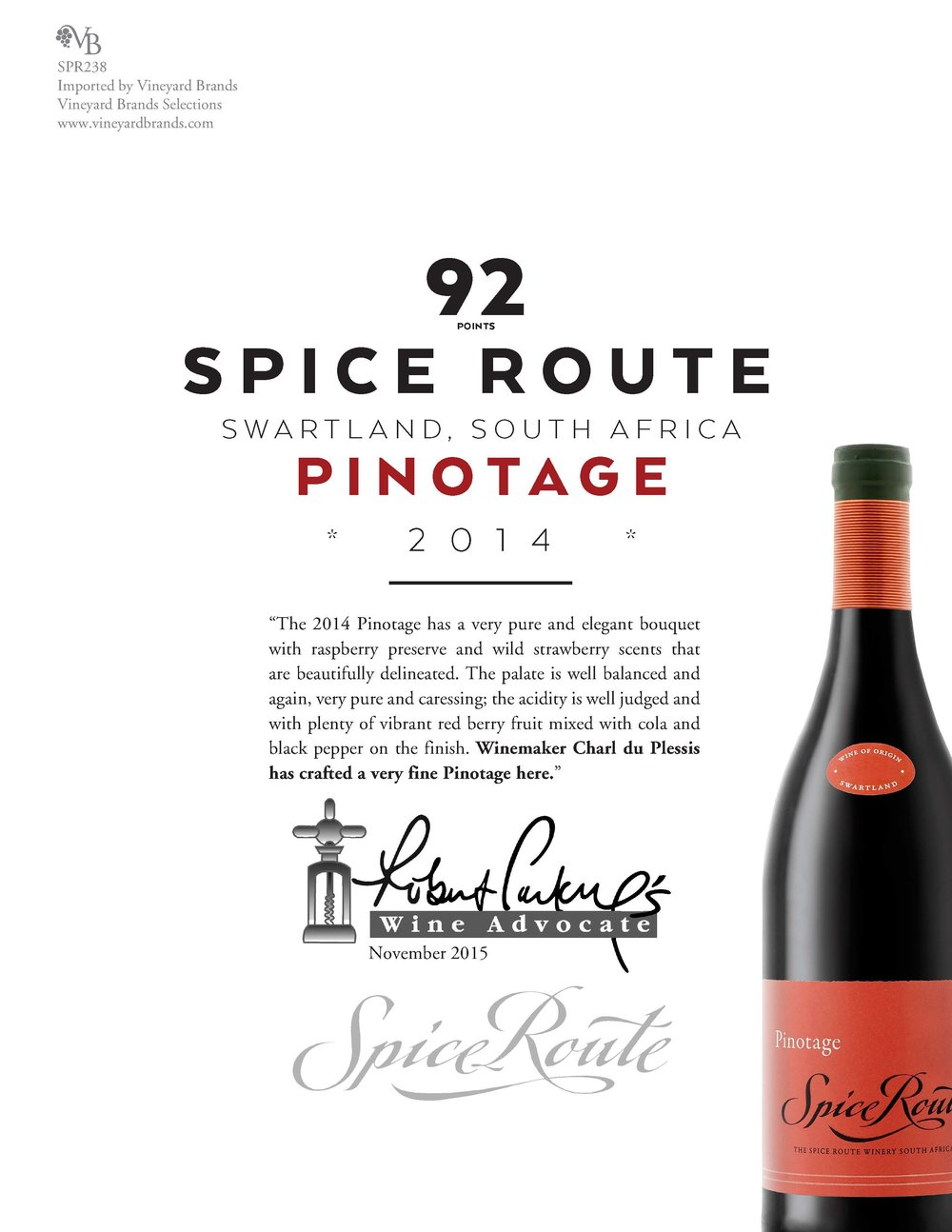 Spice Route Pinotage South Africa