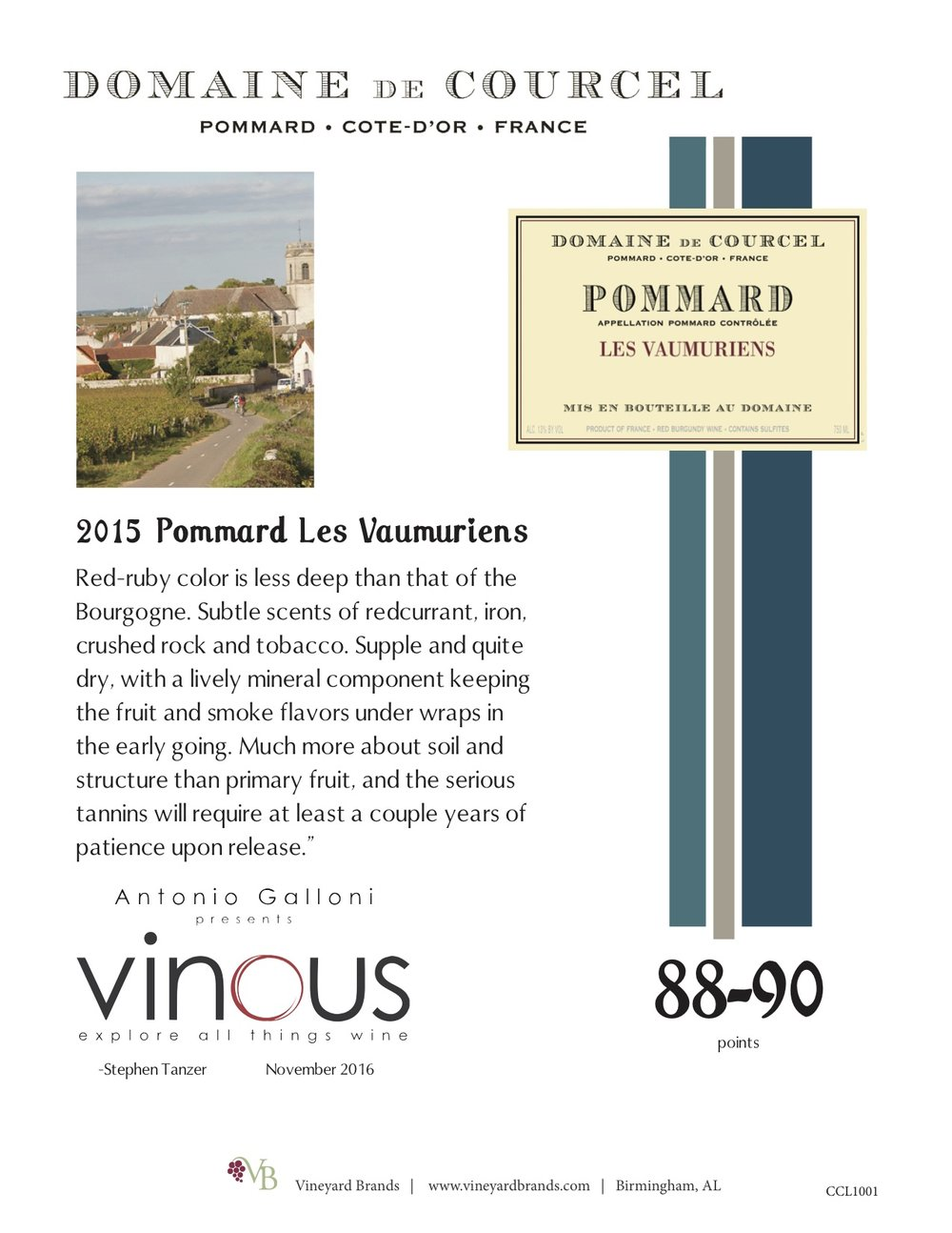 Domaine de Courcel 2015 Pommard Les Vaumuriens.jpg