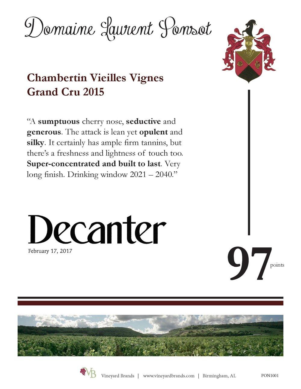 Ponsot Chambertin Vieilles Vignes Grand Cru 2015.jpg